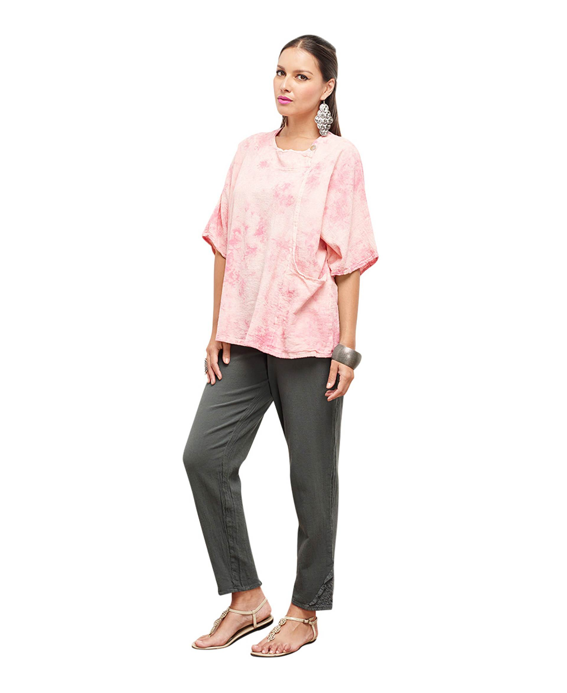 Oh My: Oh My Gauze Athena Blouse Tunic Top 100% Cotton Lagenlook
