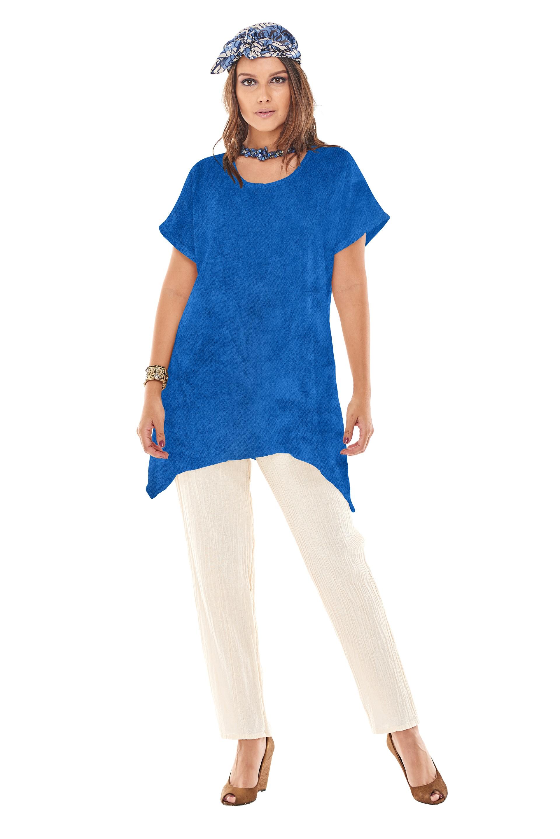 Oh-My-Gauze-Faith-Blouse-Tunic-Top-100-Cotton-Lagenlook-Short-Sleeve thumbnail 29